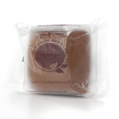 San Francisco Soap Co. Exfoliating Massage Bar - Red Clay