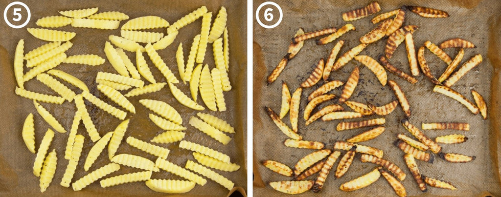 Cooked Crinkle Cut Fries