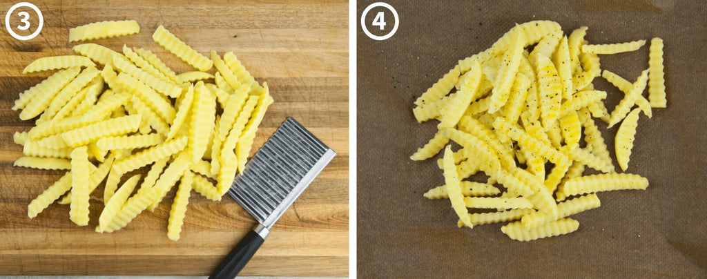 Cutting Crinkle Cut French Fries 2
