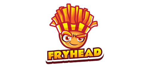 French Fry Head Logo