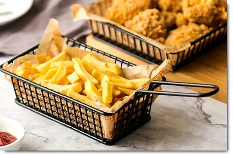 Vintage French Fry Basket