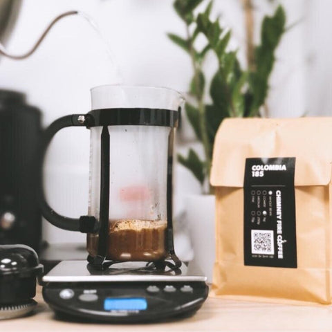 cafetiere and coffee