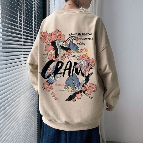 Neploha Harajuku Man Graphic T Shirts O-Neck Hoodies 2021 Fashion Chinese Style Printed Pullover Male Sweatshirts Tops