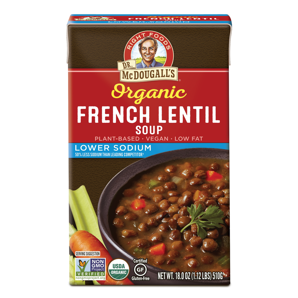 Organic Lower Sodium French Lentil Soup