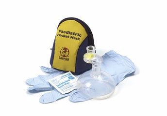Laerdal Pediatric Pocket Mask w/Gloves,Wipe & Polybag