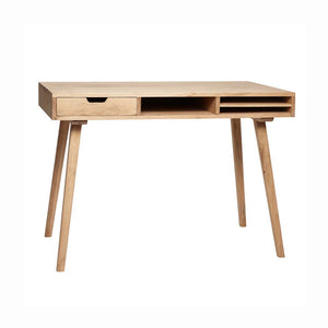 Norr - Danish Designed Oak Writing Desk by Hubsch