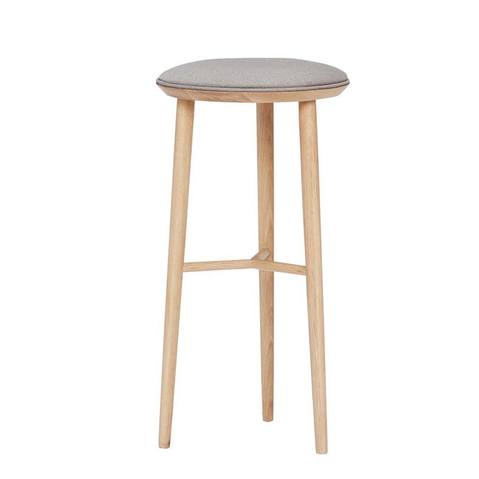 Norr - Danish Designed Oak Tall Bar Stool With Padded Cushion by Hubsch