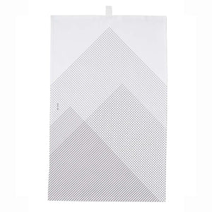 Icelandic Designed Tea Towel - Mountains Black/White - Norr - Nordic life and design