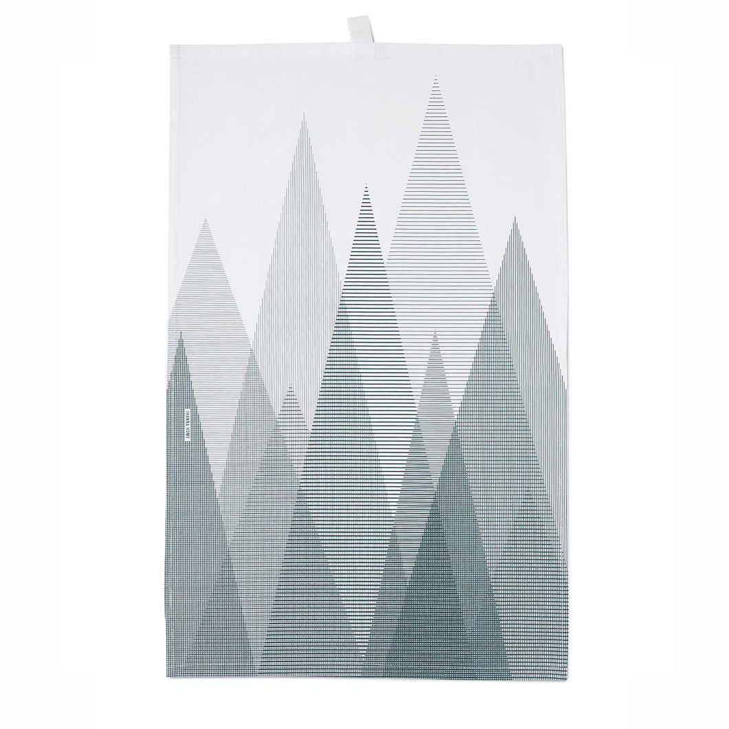 Icelandic Designed Tea Towel - Forest Black/White - Norr - Nordic life and design