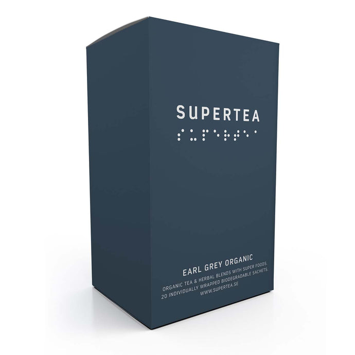 Supertea Earl Grey - Organic Tea Bags By Teministeriet (Tea Ministry) of Sweden