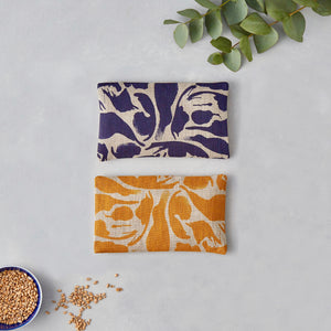 Linen Eye Pillow - Hot and Cold pack - Yoga and Body - Creatures Yellow - Norr - nordic life and design