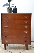 Danish Teak Chest of Drawers - Mid Century Modern 1950's - SOLD