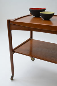 Danish Teak Serving Trolley by Poul Hundevad for Hundevad & Co. - Mid Century Modern 1960's
