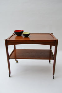 Danish Teak Serving Trolley by Hans J Wegner for Andreas Tuck - Mid Century Modern 1950's