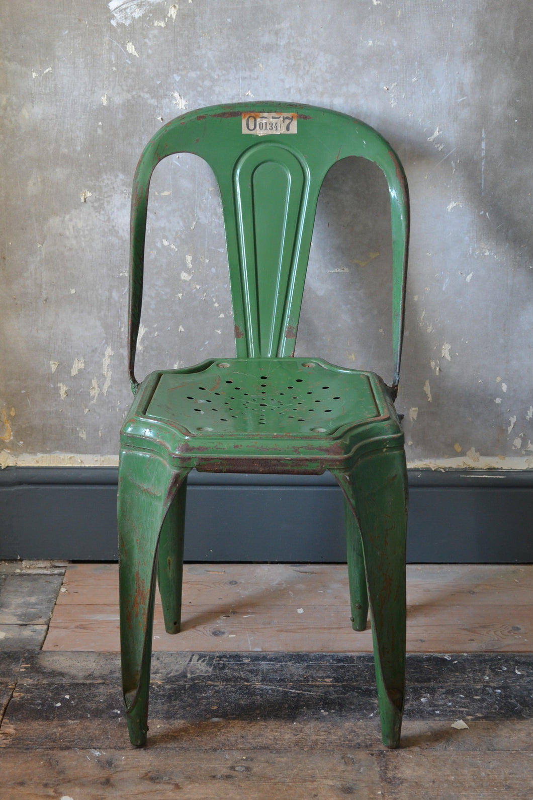 Set of 4 Vintage Industrial 1940's Belgian Cafe Chairs SOLD OUT