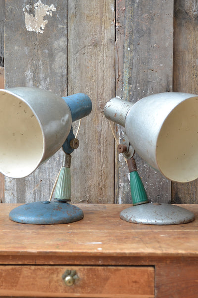 Pair of Vintage Industrial Lamps - SOLD OUT