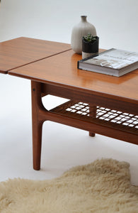 Danish Extending Coffee Table - Mid Century Modern 1950's - SOLD