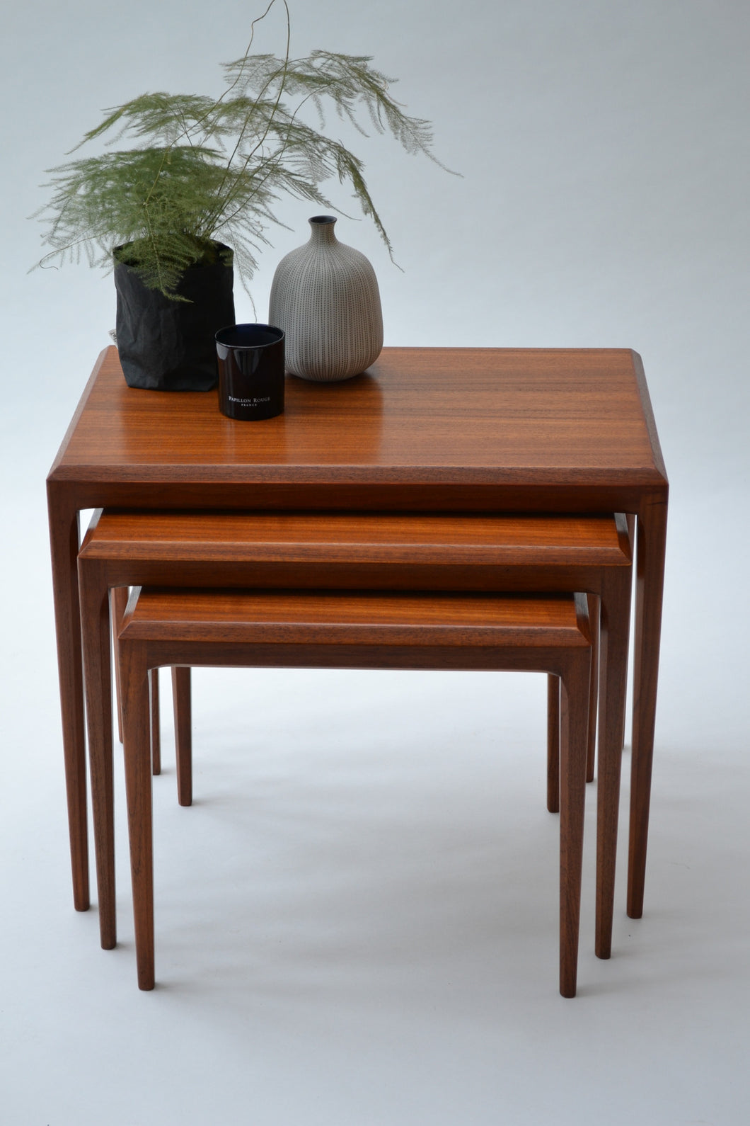 Set of Danish Teak Nesting Tables by Johannes Anderson for CFC Silkeborg - SOLD