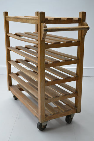 Industrial Vintage Solid Wood Bakers Trolley - 1940's - SOLD