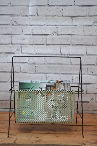 Danish Vintage Metal Magazine Rack - SOLD