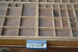 Vintage French Wooden Printer Block Tray - SOLD  OUT