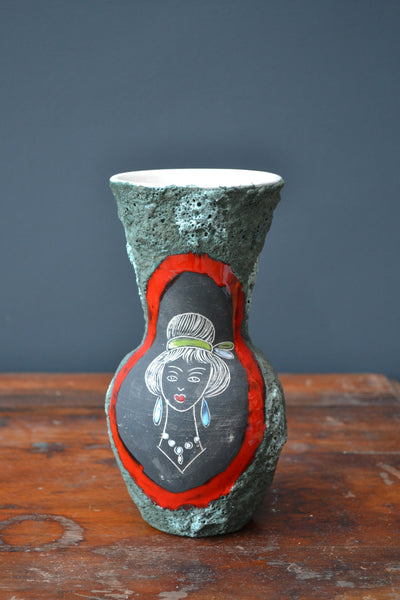 Vintage Retro Ceramic Vase - 1960's West German