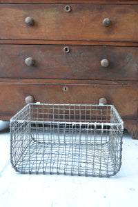 Wire Mesh Vintage Fishing Basket - SOLD