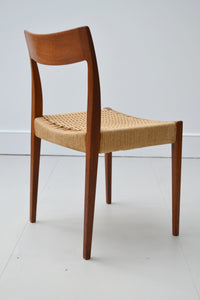 Set Of 4 Teak and Papercord Dining Chairs By Nils  - Johnsson - Mid Century Modern 1950's - SOLD