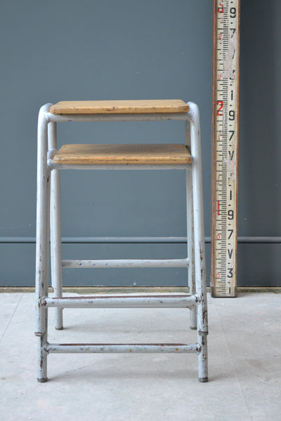 Pair of  Vintage School Science Stools - Industrial Look - SOLD