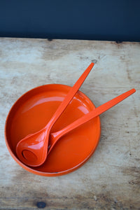 Retro Vintage Salad Bowl and Servers - SOLD