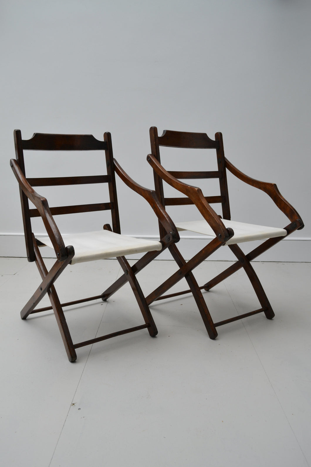 Set of 4 Vintage Cricket Club Folding Chairs - MCC - 1930's/1940's - SOLD