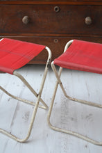 Pair of Vintage Folding Camping Stools