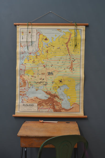 Vintage Dutch Agricultural Map of Russia - 1950's - SOLD OUT