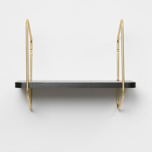 Urban Nomad Wall Shelf - Icelandic Design - Gold/Black- Small - Norr - nordic life and design