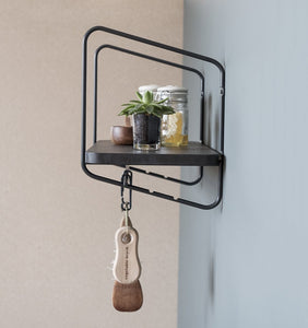 Urban Nomad Wall Shelf - Icelandic Design - Black/Black- Large - Norr - nordic life and design