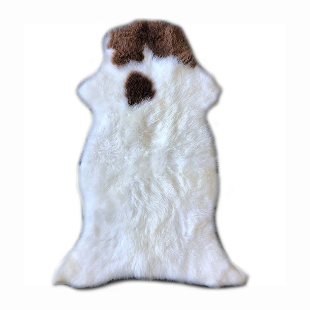 Luxury Gotland Sheepskin in White/Brown Tip - NORR - Nordic life and design