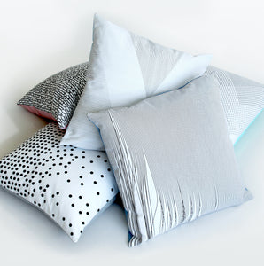 Icelandic Designed Cushion - Experience Black/White/Blue - Norr - Nordic life and design