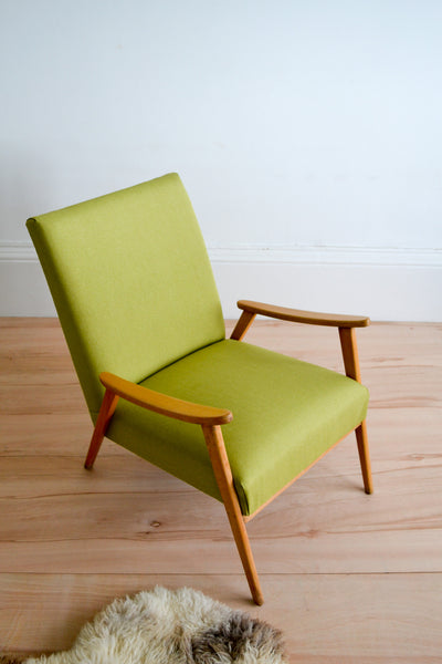 Vintage Danish Low Lounge Chair - 1960's Mid Century Modern