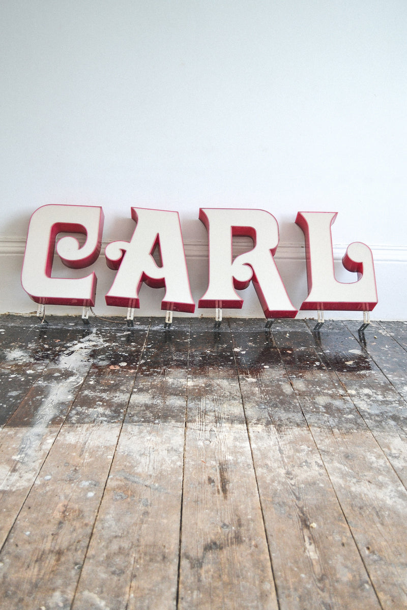 Vintage French Lightbox Letters Original 1960 S Norr