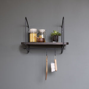 Urban Nomad Shelf Pole + 2 Hooks Accessory Pack - Small Black - Norr - nordic life and design