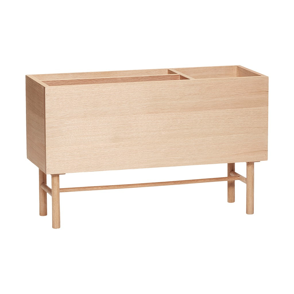 Danish Designed Natural Oak Planter by Hubsch - norr - nordic life and design