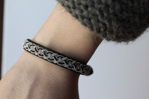 Sami Lapland Leather Bracelet - Authentic Sami Jewellery DD2 - Norr - nordic life and design