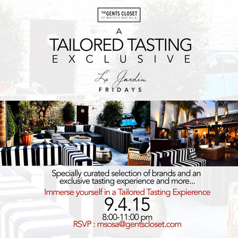 Presented by The Gents Closet, A Tailored Tasting