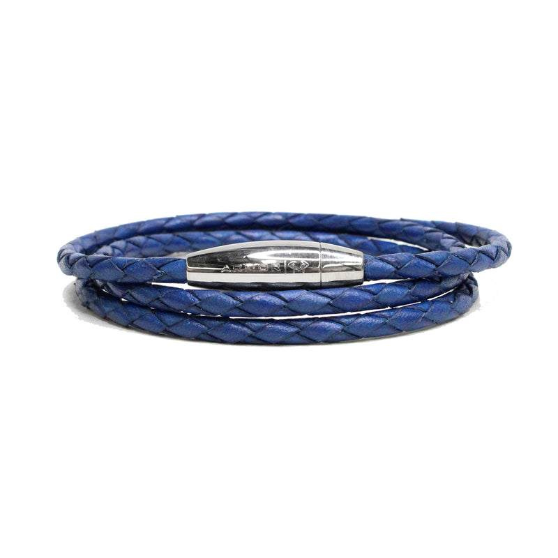 Mediterranean Braided Leather Wrap