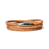Meditteranean Braided Leather Wrap