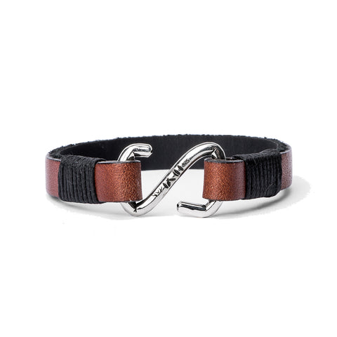 Leather Strap w/ Braided Overlay Bracelet