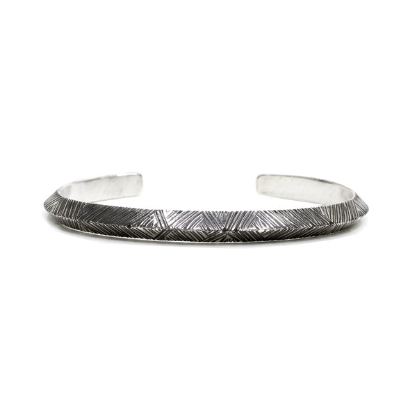 Etched Sterling Triangular Cuff