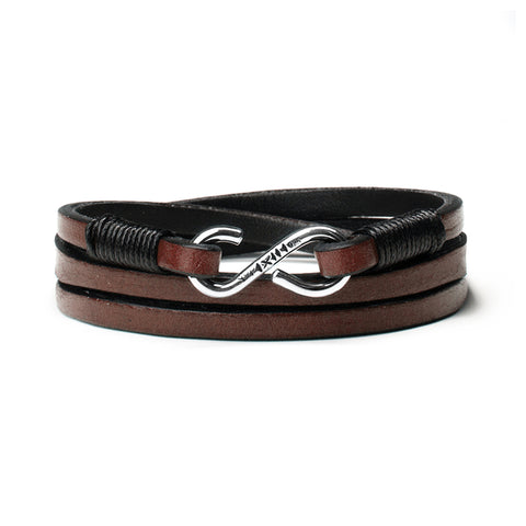 Leather Strap Bracelet w/ Sterling Clasp