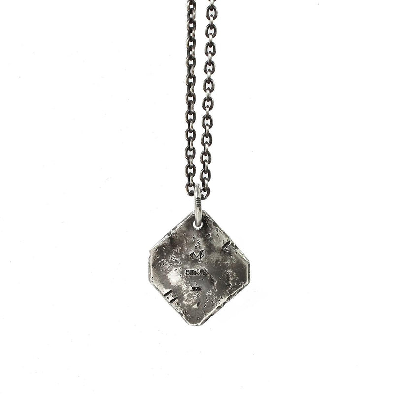Rustic Sterling Medallion on Chain