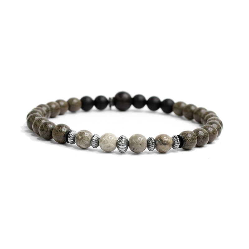 Gray Wood, Sterling and Gemstone
